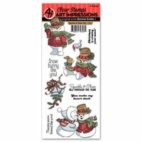 Art Impressions - Christmas Collection - Clear Photopolymer Stamp Set - Sparkle and Cheer
