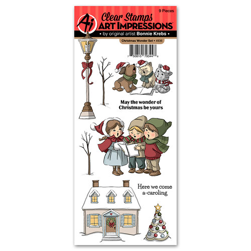 Art Impressions - Christmas Collection - Clear Photopolymer Stamp Set - Christmas Wonder