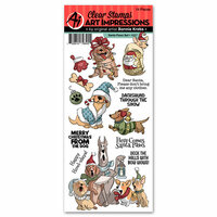 Art Impressions - Christmas Collection - Clear Photopolymer Stamp Set - Santa Paws