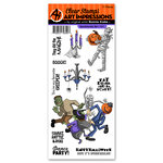 Art Impressions - Halloween Collection - Clear Stamp Set - Spooktacular