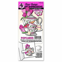 Art Impressions - PopCards Collection - Stamp and Die Set - Tea Party
