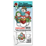 Art Impressions - PopCards Collection - Stamp and Die Set - Singing Snowmen