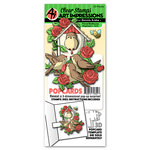 Art Impressions - PopCards Collection - Stamp and Die Set - Floral Birdhouse