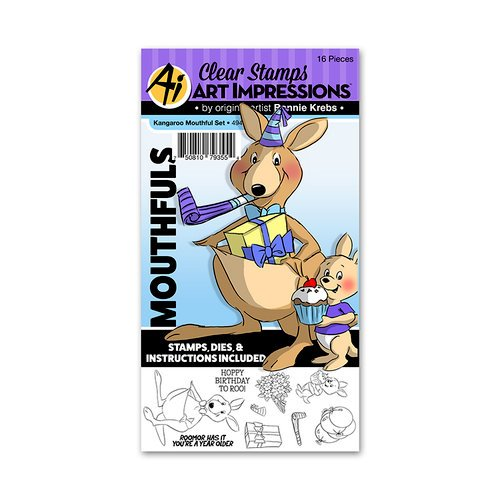 Art Impressions - Mouthfuls Collection - Stamp and Die Set - Kangaroo