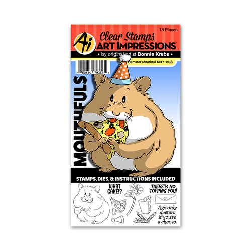 Art Impressions - Mouthfuls Collection - Stamp and Die Set - Hamster