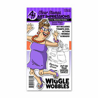 Art Impressions - Wiggle Wobbles Collection - Stamp and Die Set - Dancer