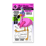 Art Impressions - Wiggle Wobbles Collection - Stamp and Die Set - Flamingo