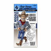 Art Impressions - Wiggle Wobbles Collection - Stamp and Die Set - Cowboy