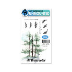 Art Impressions - Watercolor Collection - Unmounted Rubber Stamp Set - Fir Trees