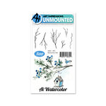 Art Impressions - Watercolor Collection - Unmounted Rubber Stamp Set - Branches