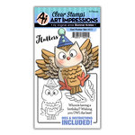 Art Impressions - Flutters Collection - Stamp and Die Set - Owl