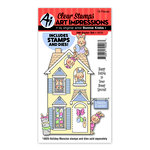 Art Impressions - Holiday Mansion Collection - Stamp and Die Set - Easter