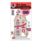 Art Impressions - Holiday Mansion Collection - Stamp and Die Set - Valentine
