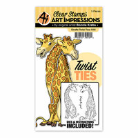 Art Impressions - Twist Ties Collection - Stamp and Die Set - Giraffe