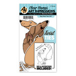 Art Impressions - Twist Ties Collection - Stamp and Die Set - Dog