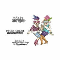 Art Impressions - Girlfriends Collection - Clear Photopolymer Stamps - Crazy Friends
