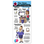 Art Impressions - Work and Play Collection - Clear Stamp Set - Office Party