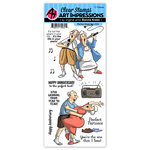 Art Impressions - Work and Play Collection - Clear Stamp Set - Perfect Duet