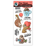 Art Impressions - Funny Farm Collection - Clear Stamp Set - Sloth-some