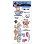 Art Impressions - Valentines Collection - Clear Stamp Set - Valentine Bears