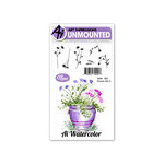 Art Impressions - Watercolor Collection - Unmounted Rubber Stamp Set - Flower 3