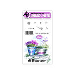 Art Impressions - Watercolor Collection - Unmounted Rubber Stamp Set - Mini Flower