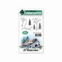 Art Impressions - Watercolor Collection - Unmounted Rubber Stamp Set - Tree 1