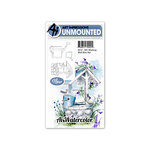 Art Impressions - Watercolor Collection - Unmounted Rubber Stamp Set - Wishing Well Mini