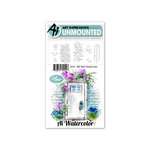 Art Impressions - Watercolor Collection - Unmounted Rubber Stamp Set - Wall Texture