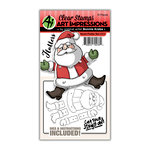 Art Impressions - Flutter Collection - Stamp and Die Set - Santa