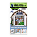 Art Impressions - Mini Tryfold Collection - Stamp and Die Set - Tool Shed