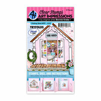 Art Impressions - Mini Tryfold Collection - Stamp and Die Set - Potting Shed