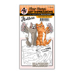 Art Impressions - Flutter Collection - Stamp and Die Set - Cats