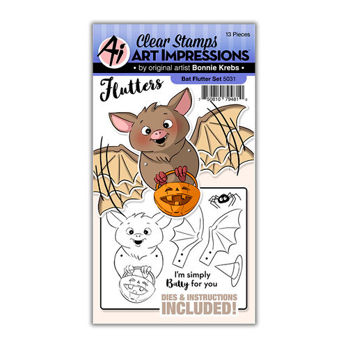 Art Impressions - Flutter Collection - Stamp and Die Set - Bat