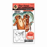 Art Impressions - Twist Ties Collection - Stamp and Die Set - Otter