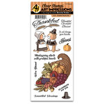 Art Impressions - Thanksgiving Collection - Clear Photopolymer Stamp Set - Grateful Hearts