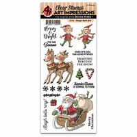 Art Impressions - Christmas Collection - Clear Photopolymer Stamp Set - Sleigh Bells