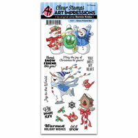 Art Impressions - Christmas Collection - Clear Photopolymer Stamp Set - Snow Friend
