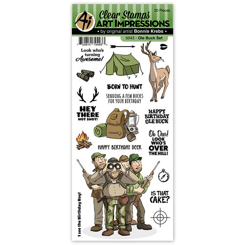 Art Impressions - Work and Play Collection - Clear Photopolymer Stamp Set - Ole Buck