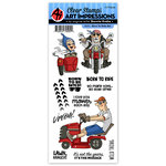 Art Impressions - Work and Play Collection - Clear Photopolymer Stamp Set - Born To Ride