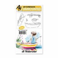 Art Impressions - Watercolor Collection - Unmounted Rubber Stamp Set - Boat