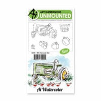 Art Impressions - Watercolor Collection - Unmounted Rubber Stamp Set - Harvest