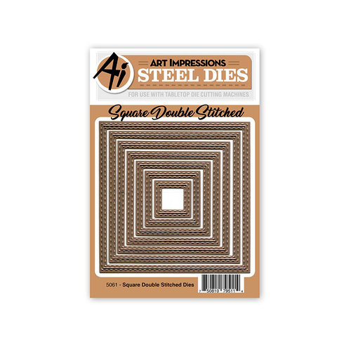 Art Impressions - Steel Dies - Square Double Stitched