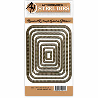 Art Impressions - Steel Dies - Rounded Rectangle A2 Double Stitched