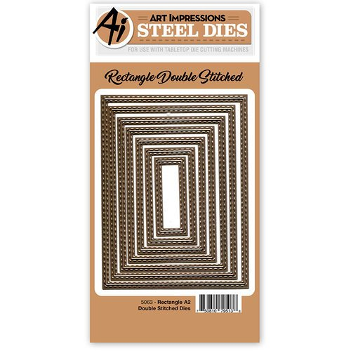Art Impressions - Steel Dies - Rectangle A2 Double Stitched