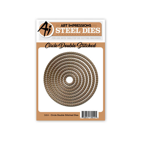 Art Impressions - Steel Dies - Circle Double Stitched