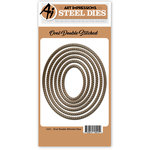 Art Impressions - Steel Dies - Oval Double Stitched