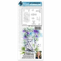 Art Impressions - Bible Journaling Collection - Unmounted Rubber Stamp Set - Gates of Righteousness