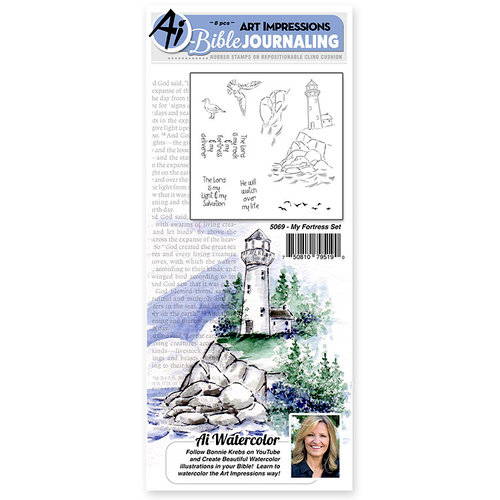 Art Impressions - Bible Journaling Collection - Unmounted Rubber Stamp Set - My Fortress