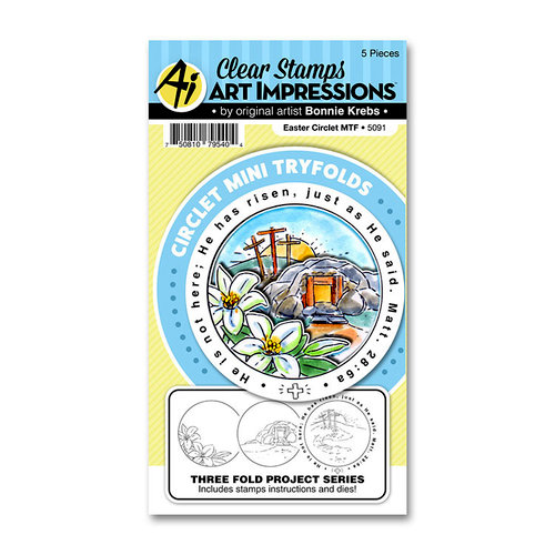 Art Impressions - Circlet Mini Tryfolds Collection - Stamp and Die Set - Easter